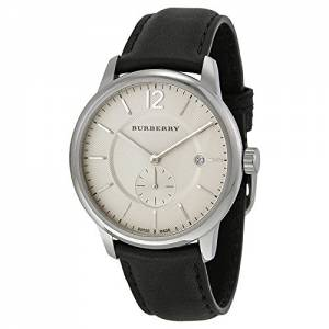 [バーバリー]Burberry  Classic Round Beige Dial Black Leather Watch BU10000 BUR10000 メンズ