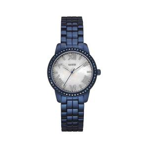 [ゲス]GUESS 腕時計 BlueTone MotherofPearl Dial Glits Watch W0444L4 レディース