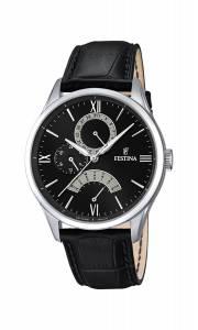 フェスティナ Festina Men's Quartz Watch with Black Dial Analogue Display and Black F16823/2