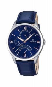 フェスティナ Festina Men's Quartz Watch with Blue Dial Analogue Display and Blue F16823/3