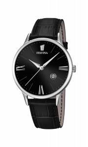 フェスティナ Festina Men's Quartz Watch with Black Dial Analogue Display and Black F16824/4