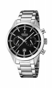 フェスティナ Festina Men's Quartz Watch with Black Dial Chronograph Display and F16826/3