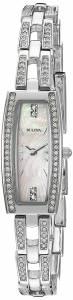 [ブローバ]Bulova  'Crystal' Quartz Stainless Steel Dress Watch, Color:SilverToned 96L208