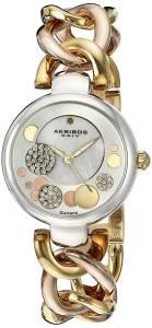 [アクリボス XXIV]Akribos XXIV  Analog Display Japanese Quartz Two Tone Watch AK678TRI