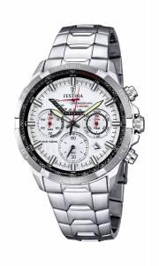 フェスティナ Festina Men's Quartz Watch with White Dial Chronograph Display and Silver F6836/1