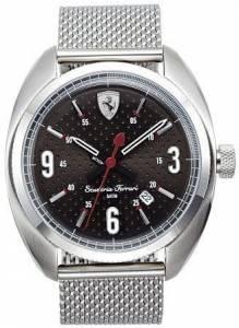 [フェラーリ]Ferrari 腕時計 Scuderia Stainless Steel Watch Black Dial 830211 メンズ