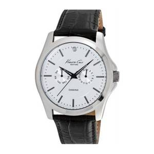 Kenneth Cole 10022310 Men's Stainelss Steel Black Leather Band White Dial Sma... (parallel imports)