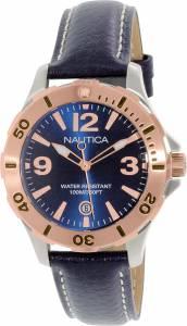 [ノーティカ]Nautica 腕時計 Blue Leather Quartz Watch NAD13000M レディース