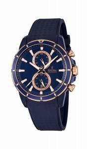 フェスティナ Festina Men's Quartz Watch with Blue Dial Chronograph Display and Black F16851/1