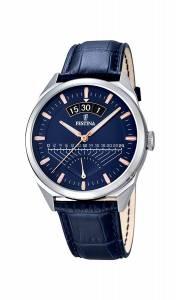 フェスティナ Festina Men's Quartz Watch with Blue Dial Analogue Display and Blue F16873/3