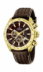 フェスティナ Festina men's Quartz Watch Chronograph Display and Leather Strap F16879/3