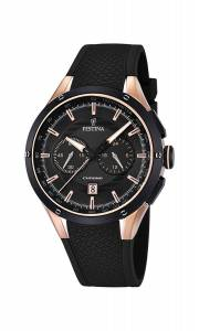 フェスティナ Festina Men's Quartz Watch with Black Dial Chronograph Display and Black F16831/2