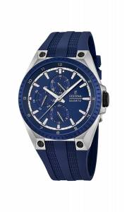 フェスティナ Festina Men's Quartz Watch with Blue Dial Analogue Display and Blue F16834/2