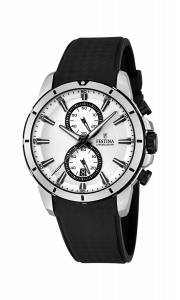 フェスティナ Festina Men's Quartz Watch with White Dial Chronograph Display and Black F16850/1