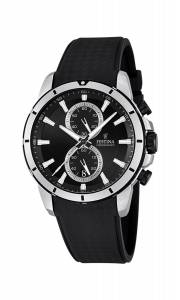 フェスティナ Festina Men's Quartz Watch with Black Dial Chronograph Display and Black F16850/2
