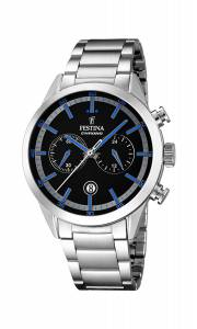 フェスティナ Festina Men's Quartz Watch with Black Dial Chronograph Display and F16826/5