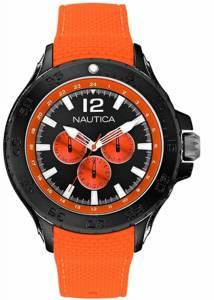 [ノーティカ]Nautica  Mens Multifinction 3 Sub Dial Diver Sports Watch Orange/Black A18674G