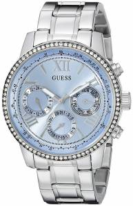ゲスGUESS腕時計 GUESS Women's U0559L4 Classic Sporty Stainless Steel Watch with Blue Dial