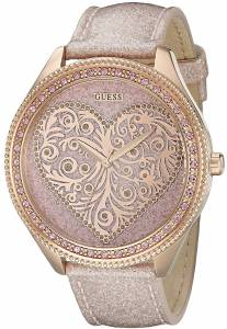 ゲスGUESS腕時計 GUESS Women's U0697L3 Trendy Rose Gold-Tone Watch with Heart Dial
