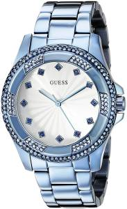 ゲスGUESS腕時計 GUESS Women's U0702L1 Iconic Sky Blue Classic Stainless Steel Watch