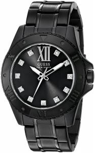 [ゲス]GUESS 腕時計 Sharp Black Watch with Diamond Markers U0721G3 メンズ [並行輸入品]