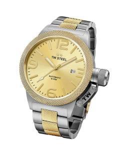 [ティーダブルスティール]TW Steel Canteen Bracelet Gold Dial Two Tone Yellow Gold CB55