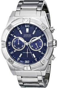 [ゲス]GUESS  Chronograph,Stainless Steel Case & Bracelet,Screw Crown,100m WR W0377G2 メンズ