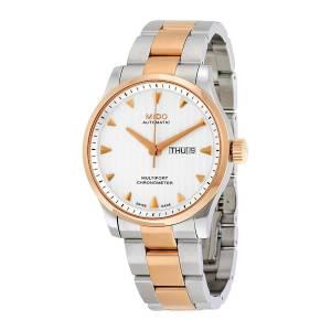 [ミドー]Mido 腕時計 Silver Rose Gold Automatic Analog Watch M005.431.22.031.00 メンズ