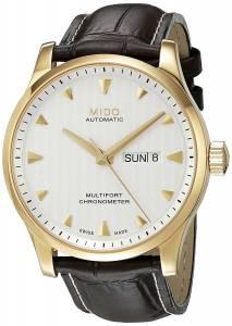 [ミドー]Mido Multifort Gent Leather Automatic Analog Watch MD M005.431.36.031.00