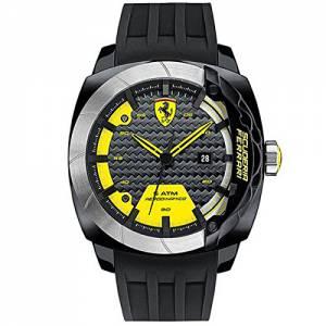 [フェラーリ]Ferrari Scuderia Aerodinamico 0 46mm Polycarbonate Case Black Silicone 830204