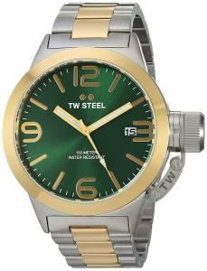 [ティーダブルスティール]TW Steel  Analog Display Quartz Two Tone Watch CB61 メンズ