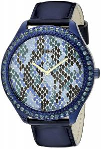 [ゲス]GUESS 腕時計 Iconic Indigo Blue Python Print Watch U0625L3 レディース