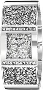 [ゲス]GUESS  Sparkling SilverTone Watch with SelfAdjsutable Bracelet U0650L1 レディース