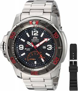 [オリエント]Orient MForce Beast STI Analog Display Japanese Automatic Silver Watch SEL06002B0