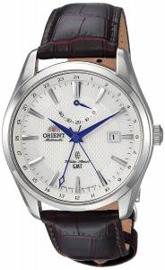 [オリエント]Orient 'Polaris GMT' Japanese Automatic Stainless Steel and Leather FDJ05003W0