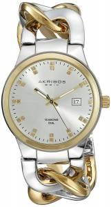[アクリボス XXIV]Akribos XXIV  Analog Display Swiss Quartz Two Tone Watch AK608TTG