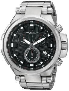 [アクリボス XXIV]Akribos XXIV Round Black Dial Chronograph Quartz Movement Stainless AK861SSB