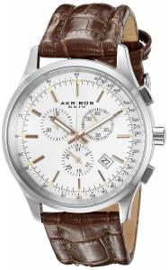 [アクリボス XXIV]Akribos XXIV  Round Silver Dial Chronograph Quartz Strap Watch AK863SSBR