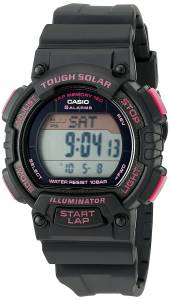 [カシオ]Casio  Solar Runner Digital Display Quartz Black Watch STL-S300H-1CCR レディース