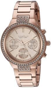 [ブローバ]Bulova  Quartz Stainless Steel Casual Watch, Color:Rose GoldToned 44L180
