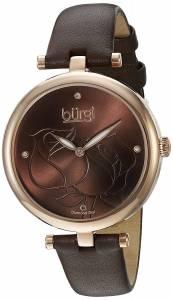[バージ]Burgi  Rose Gold Quartz Watch With Brown Diamond Dial And Brown Leather Strap BUR151BR