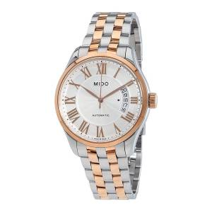 [ミドー]Mido Belluna II Gent's Silver Rose Gold Automatic Watch MD M024.407.22.033.00
