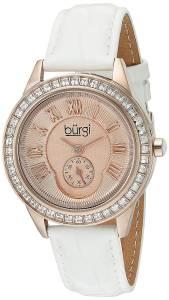 [バージ]Burgi  Rose Gold Quartz Watch With Rose Dial and Swarovski Crystal Accented BUR144WTR