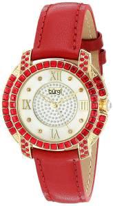 [バージ]Burgi  Yellow Gold Quartz Watch With Diamond Mother of Pearl Swarovski Crystal BUR156RD