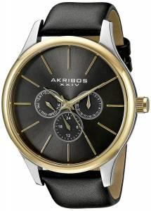 [アクリボス XXIV]Akribos XXIV Round Silver Dial Three Hand Quartz Two Tone Strap Watch AK870YGB