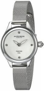 [アクリボス XXIV]Akribos XXIV  SilverTone Watch with Diamond Markers AK873SS レディース