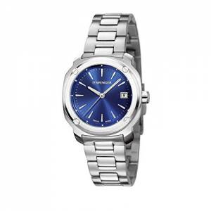 [ウェンガー]Wenger  EDGE Index Stainless Steel Bracelet Band Blue Dial Watch 01.1141.112