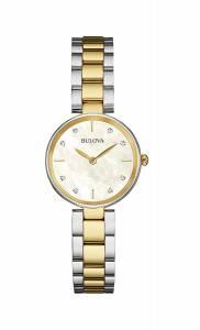 [ブローバ]Bulova  12mm TwoTone Stainless Steel Watch with Bracelet 98P146 レディース