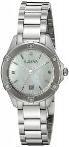 [ブローバ]Bulova 腕時計 13mm Stainless Steel Silver Watch Bracelet 96R205 [並行輸入品]