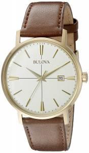 [ブローバ]Bulova 腕時計 20mm Leather Calfskin Brown Watch Bracelet 97B151 メンズ